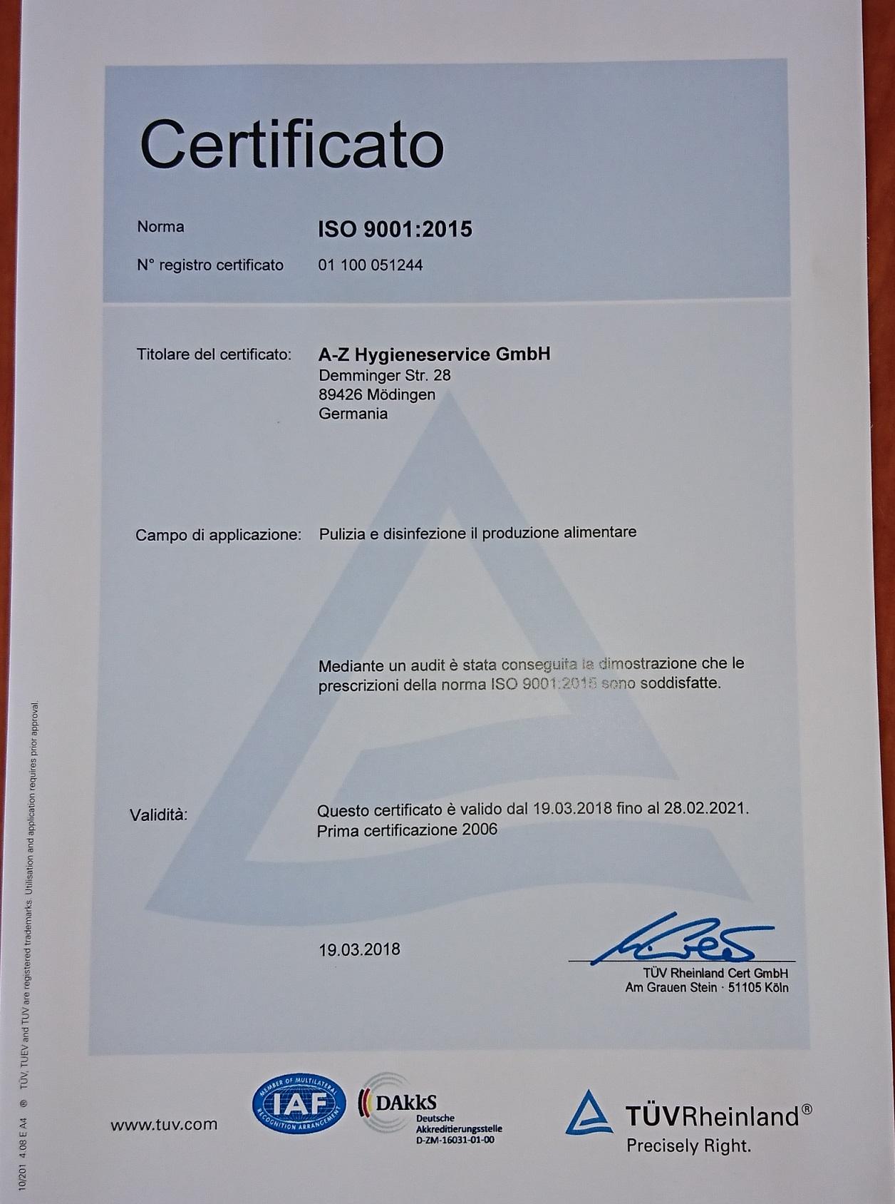 Zertifikat Italienisch2